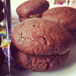 Chocolate Peanut Butter Sandwich Cookies
